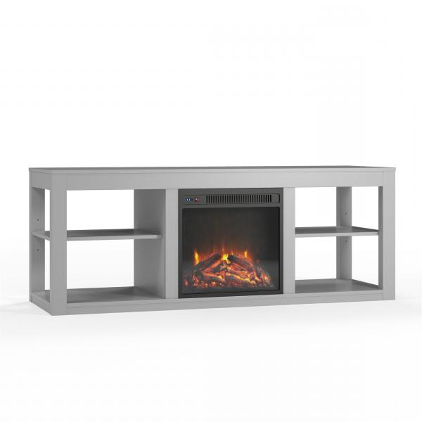 Ameriwood Home Parsons Electric Fireplace Tv Stand For Tvs With Preferred Penelope Dove Grey Tv Stands (View 3 of 10)
