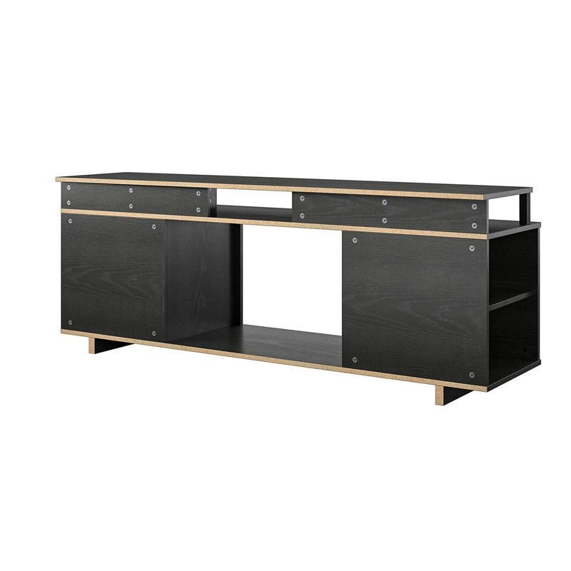 """Ameriwood Home Rhea Tv Stands For Tvs Up To 70"""" In Black Oak Inside Preferred Ameriwood Home Mason Fireplace Tv Stand For Tvs Up To  (View 3 of 10)"""
