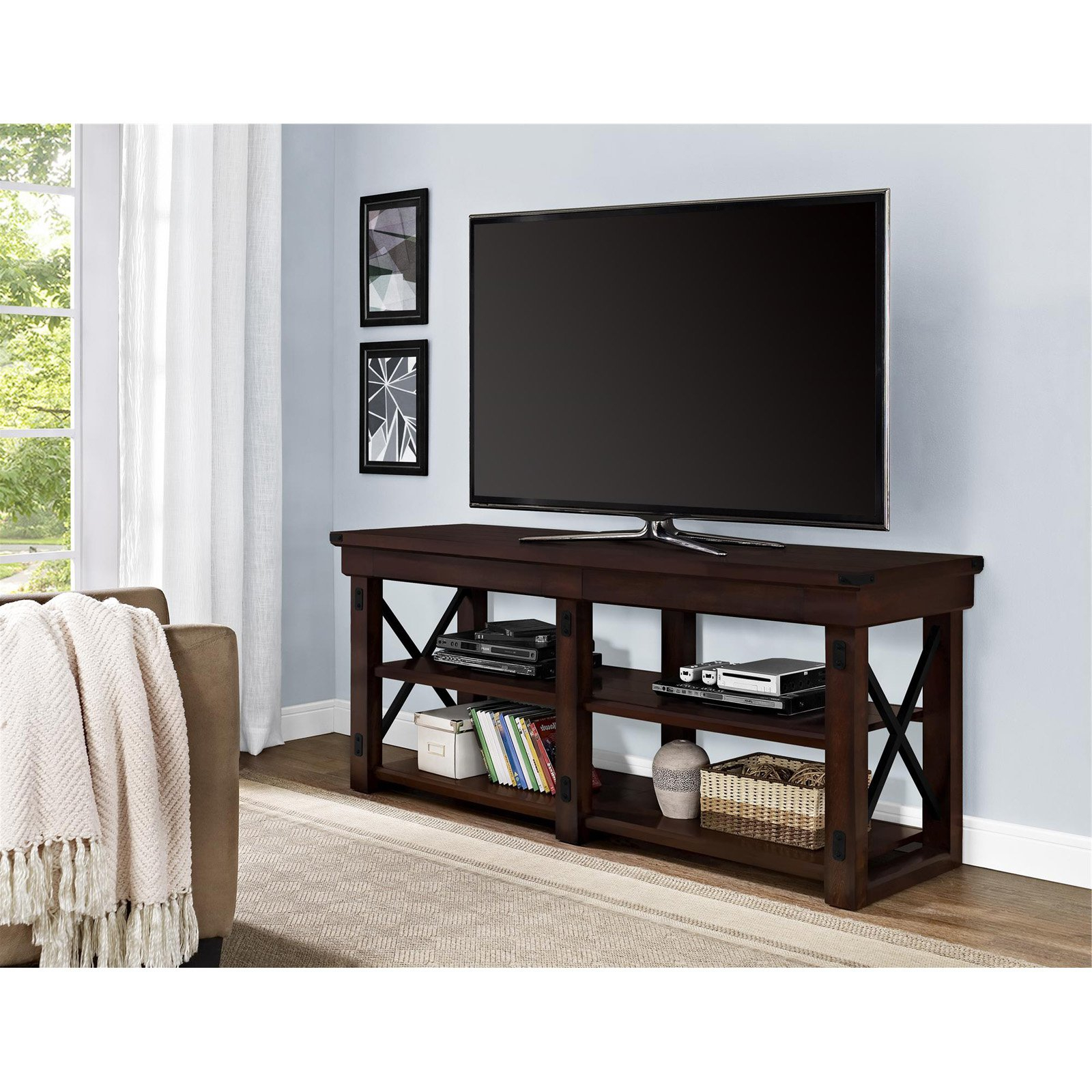 """Ameriwood Home Wildwood Tv Stand For Tvs Up To 65 With 2017 Wolla Tv Stands For Tvs Up To 65"""" (View 8 of 25)"""