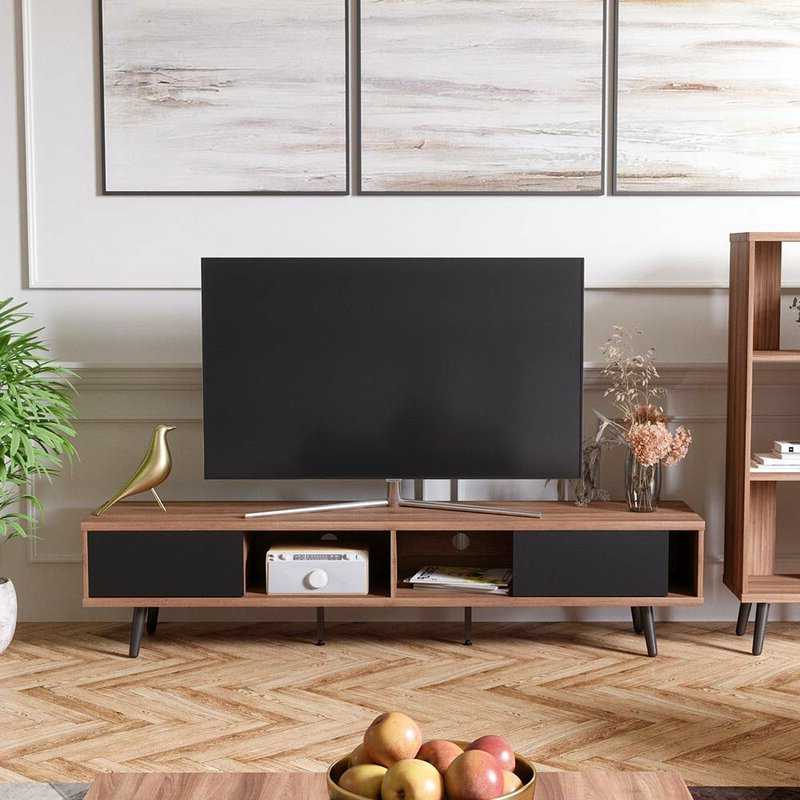 """Ansel Tv Stands For Tvs Up To 78"""" For Trendy Corrigan Studio® Spector Tv Stand For Tvs Up To  (View 15 of 25)"""