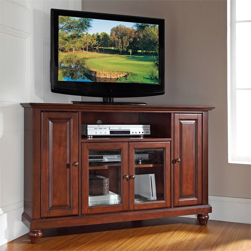 """Antea Tv Stands For Tvs Up To 48"""" Within Popular Crosley Cambridge 48"""" Corner Tv Stand In Mahogany – Kf10006dma (View 5 of 25)"""