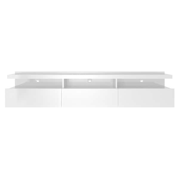 """Bari 160 Wall Mounted Floating 63"""" Tv Stands Throughout Trendy Cabrini  (View 3 of 10)"""