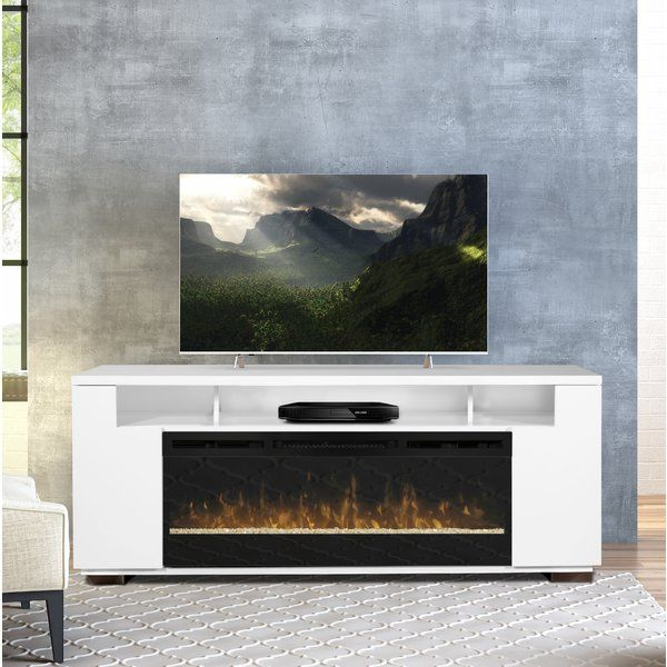"""Barnett Tv Stand For Tvs Up To 85"""" With Fireplace Included For Famous Bustillos Tv Stands For Tvs Up To 85"""" (View 8 of 25)"""