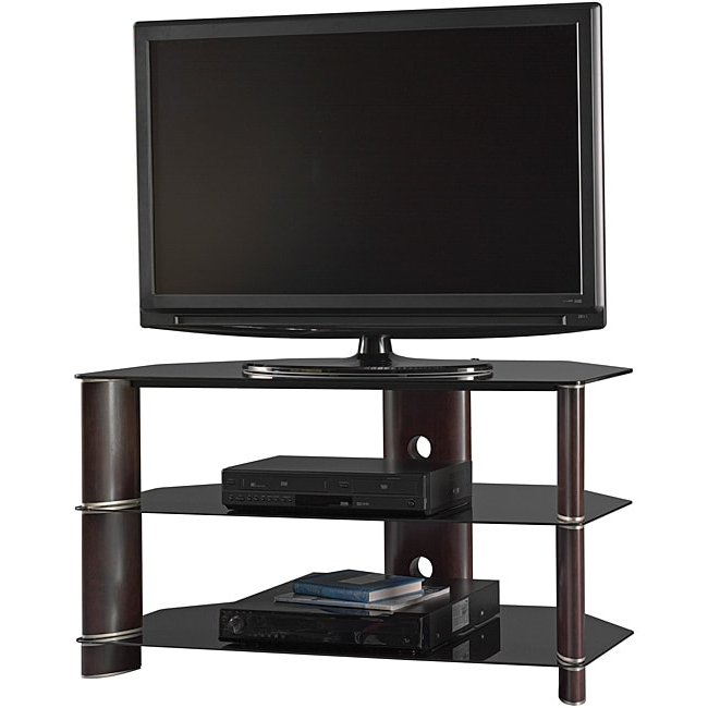 "Basie 2 Door Corner Tv Stands For Tvs Up To 55"" Inside Preferred Bush Furniture Segments 42 Inch Corner Tv Stand –  (View 8 of 10)"