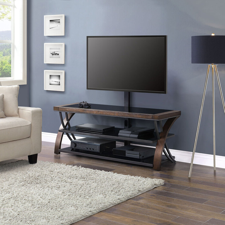 """Bayside Furnishings Burkedale 3 In 1 Tv Stand For Tvs Up Pertaining To Trendy Totally Tv Stands For Tvs Up To 65"""" (View 5 of 25)"""