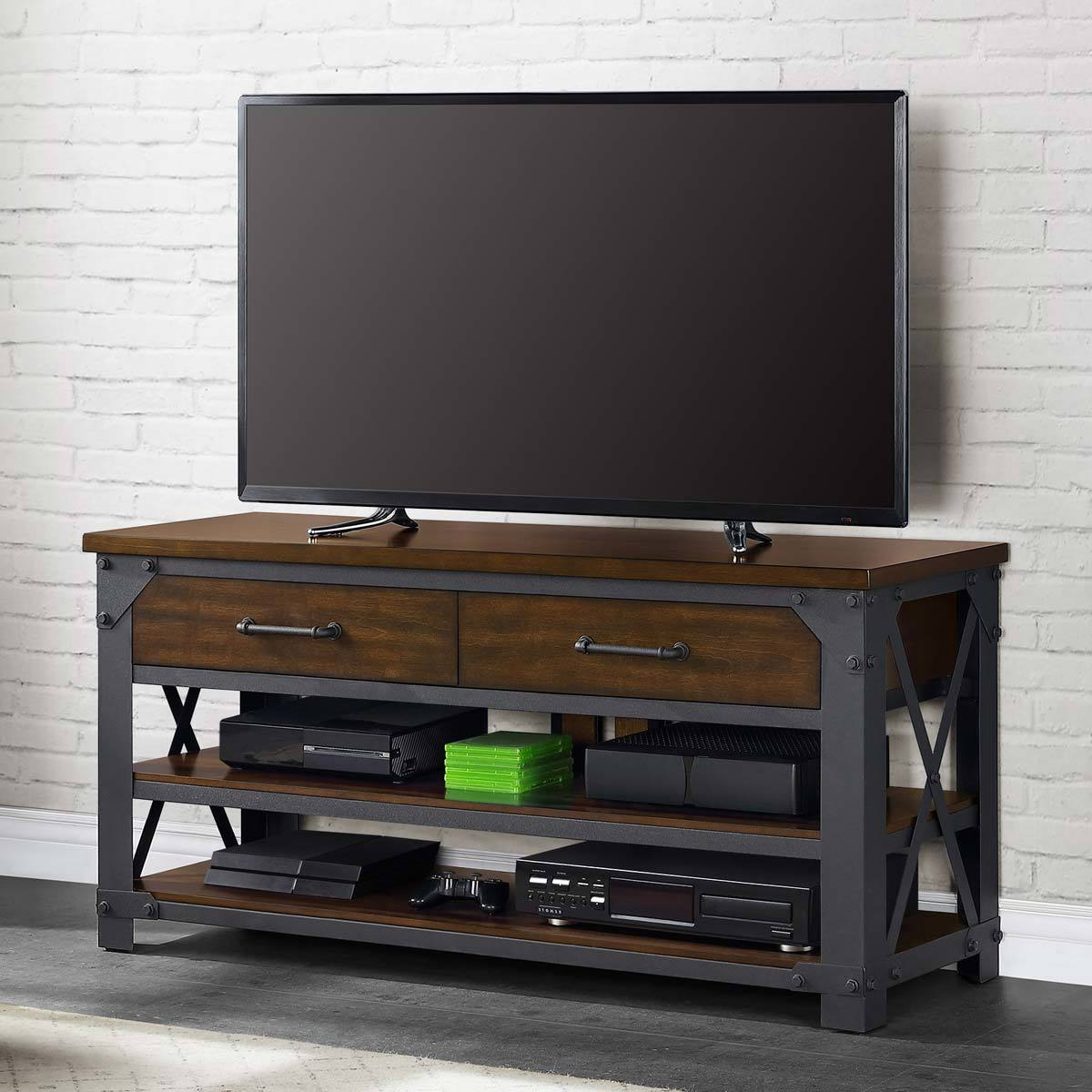 Bayside Furnishings Logan 3 In 1 Tv Stand For Tvs Up To 65 Inside Well Known Logan Tv Stands (View 7 of 10)