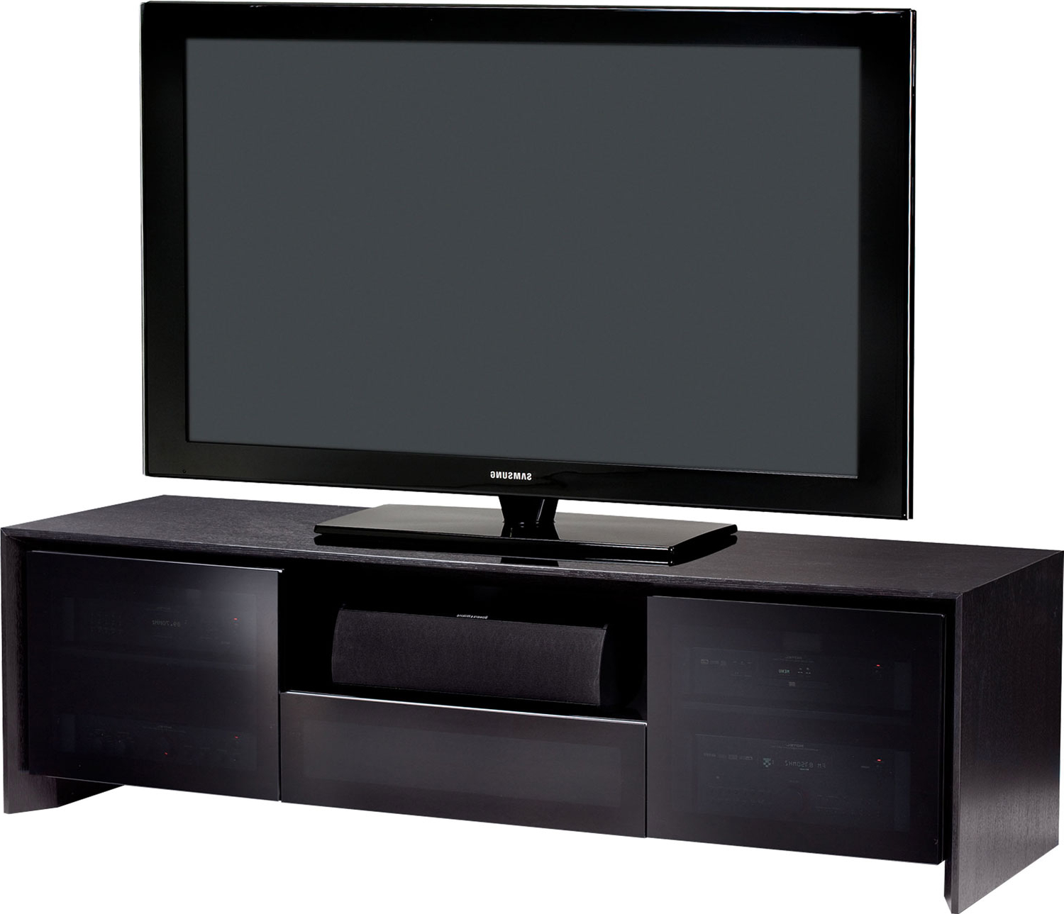 """Bdi Casata 8629 B Black Oak Tv Stand For Up To 70 Inch Pertaining To Trendy Broward Tv Stands For Tvs Up To 70"""" (View 8 of 25)"""