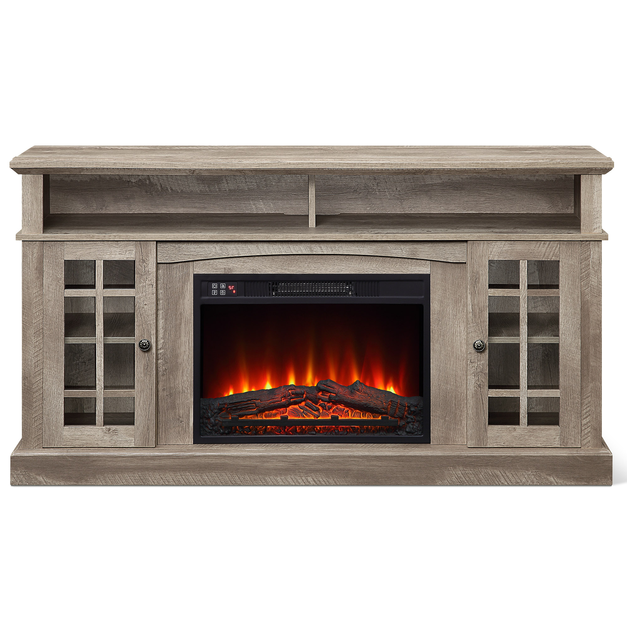 """Belleze Fireplace Tv Stand With Remote Control Console For Best And Newest Wolla Tv Stands For Tvs Up To 65"""" (View 21 of 25)"""