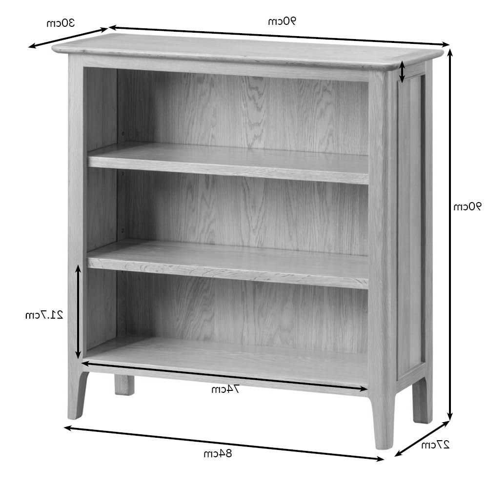 Bergen Tv Stands Pertaining To Best And Newest Bergen Oak Small Wide Bookcase (View 23 of 25)