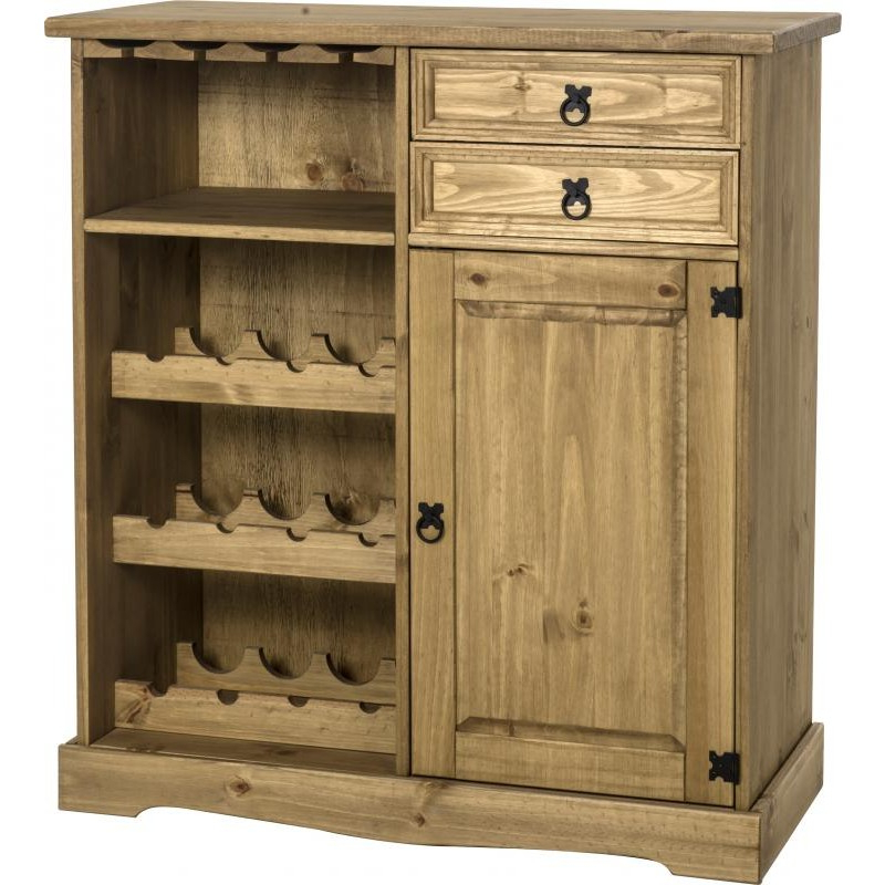 Best And Newest Corona Corner Tv Stands Intended For Corona Sideboard/wine Rack Unit  Brixton Beds (View 5 of 10)