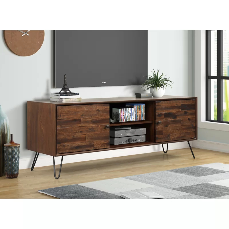 """Best And Newest Garvyn Solid Wood Tv Stand For Tvs Up To 65"""" (View 4 of 25)"""