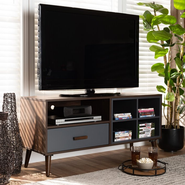 """Best And Newest George Oliver Niviarsiaq Solid Wood Tv Stand For Tvs Up To With Mathew Tv Stands For Tvs Up To 43"""" (View 2 of 25)"""