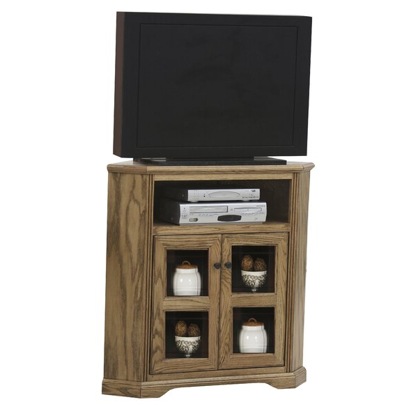 """Best And Newest Griffing Solid Wood Tv Stands For Tvs Up To 85"""" Pertaining To Loon Peak® Glastonbury Solid Wood Corner Tv Stand For Tvs (View 18 of 25)"""