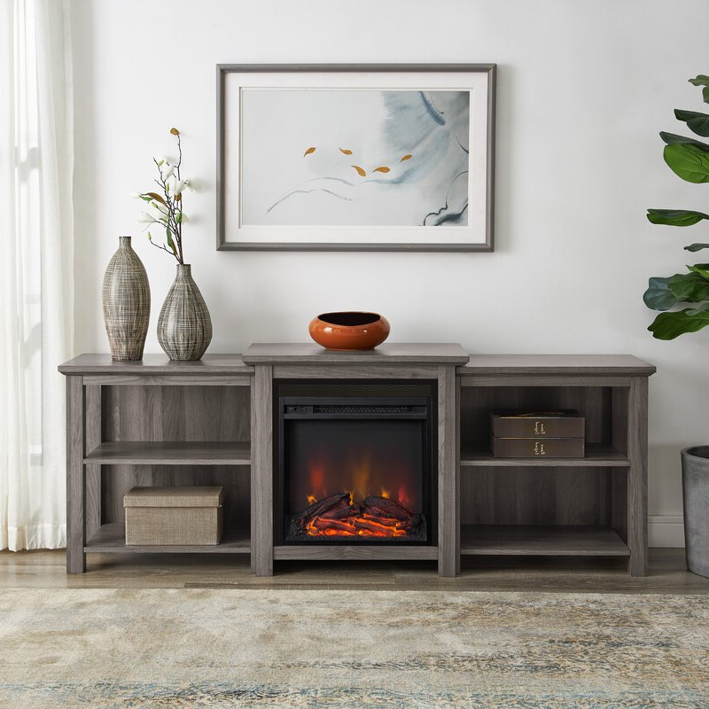 """Best And Newest Hetton Tv Stands For Tvs Up To 70"""" With Fireplace Included With Regard To Millwood Pines Woodbury Tv Stand For Tvs Up To 70"""" With (View 1 of 25)"""