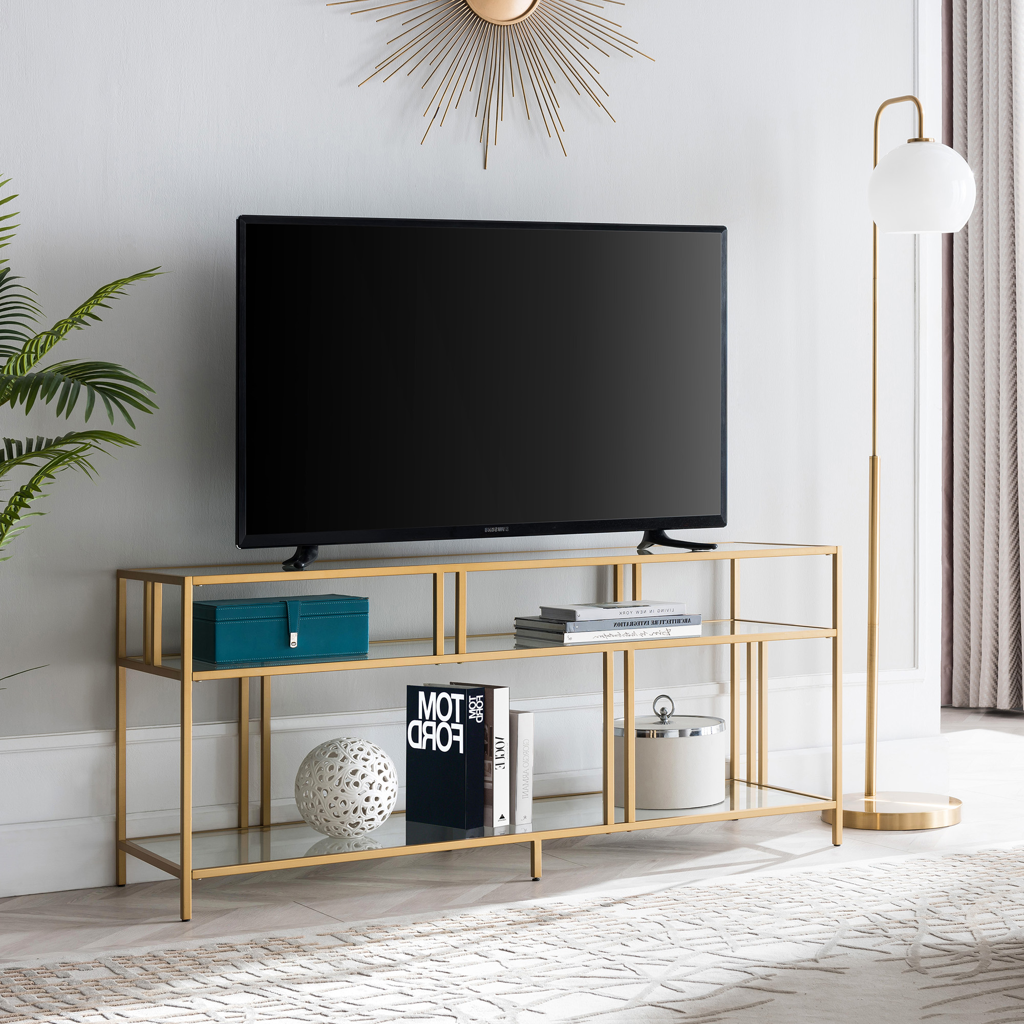 """Best And Newest Modern Metal Tv Stand For Tvs Up To 55"""", Industrial Media Within Twila Tv Stands For Tvs Up To 55"""" (View 2 of 25)"""