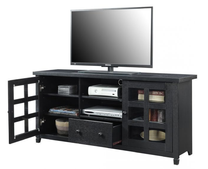 """Best And Newest Newport Park Lane Tv Stand In Black Finish – Convenience Intended For Convenience Concepts Newport Marbella 60"""" Tv Stands (View 3 of 10)"""