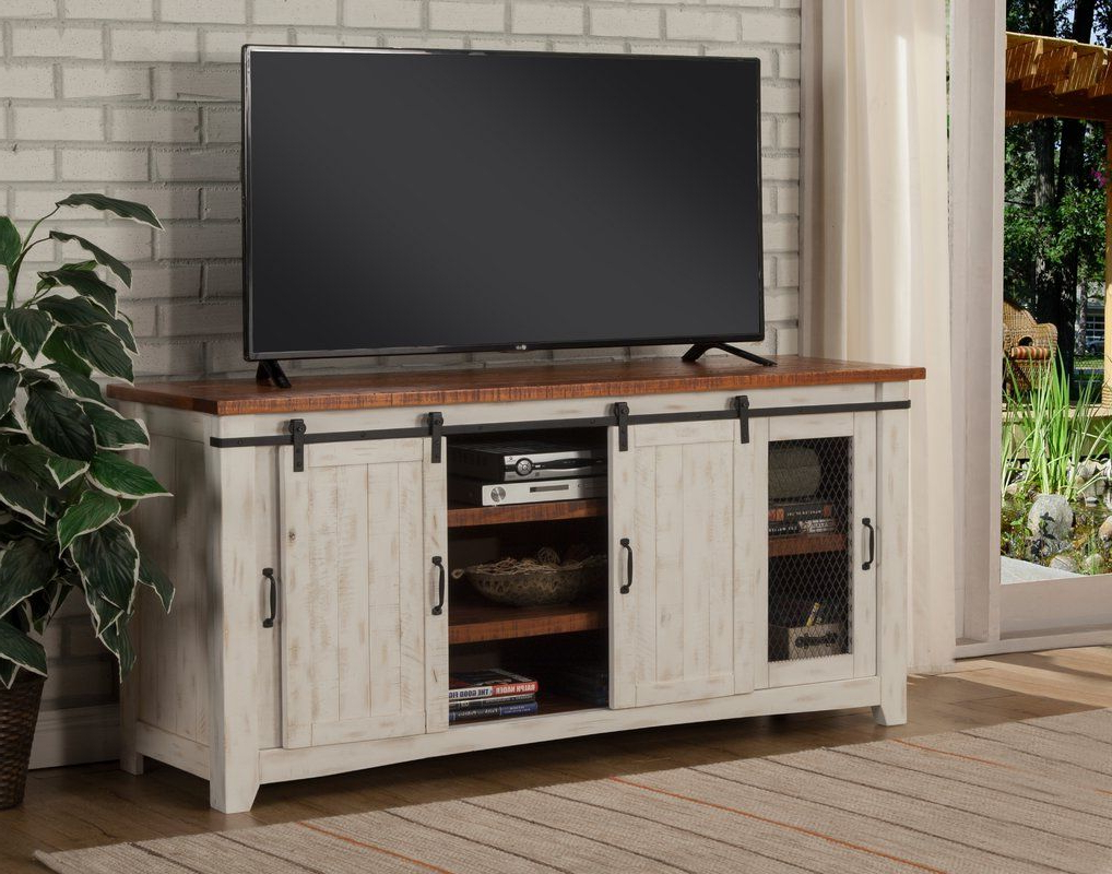 """Best And Newest Solid Wood Tv Stands For Tvs Up To 65"""" Pertaining To Belen Tv Stand For Tvs Up To 70"""" & Reviews (View 9 of 25)"""