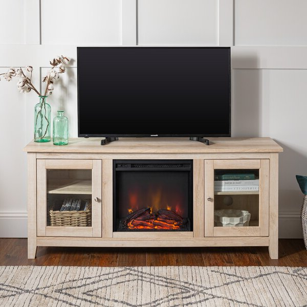"""Best And Newest Zipcode Design™ Kohn Tv Stand For Tvs Up To 65"""" With Intended For Hetton Tv Stands For Tvs Up To 70"""" With Fireplace Included (View 3 of 25)"""