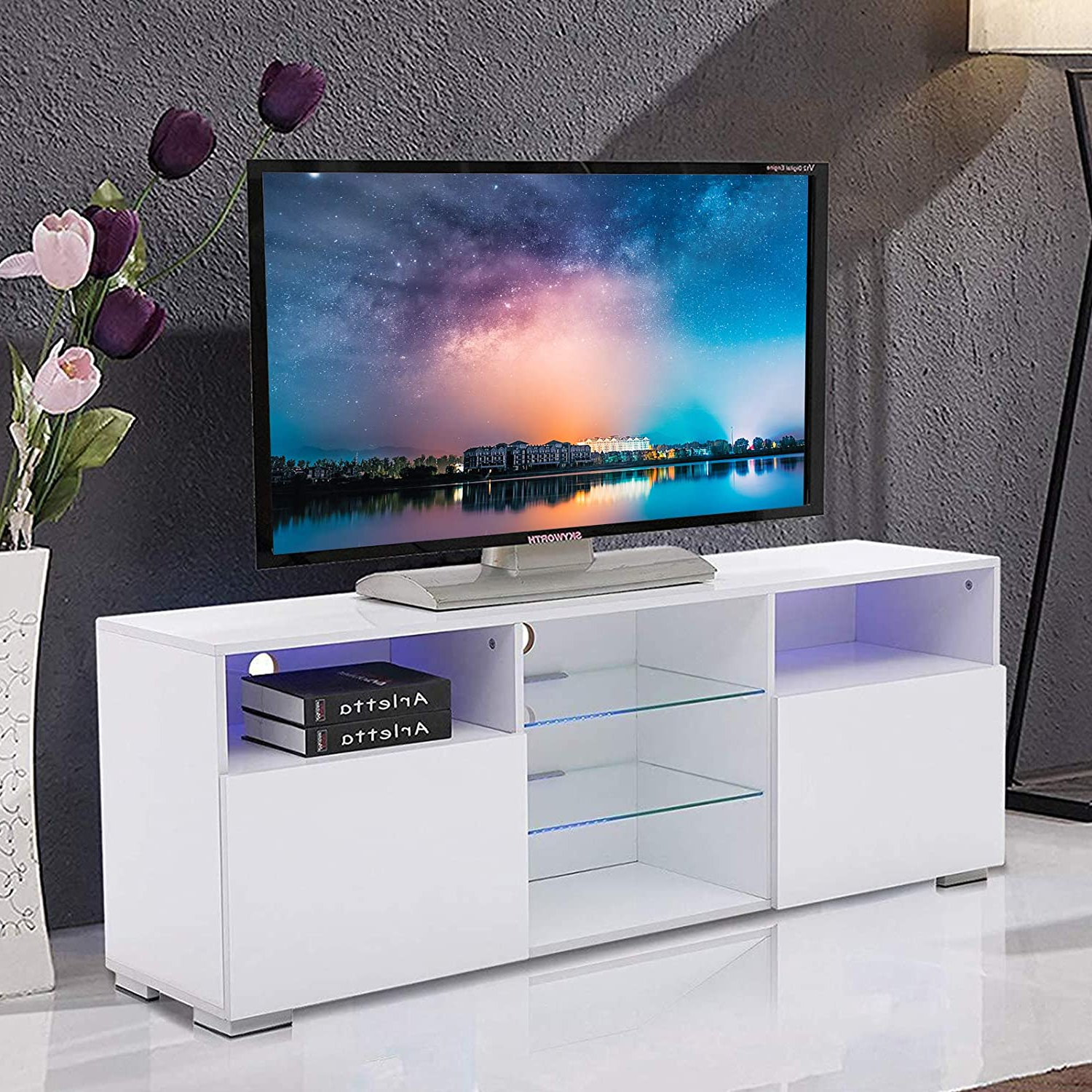 Best Tv Stand With Led Lights – Home Easy Regarding Preferred Polar Led Tv Stands (View 8 of 10)