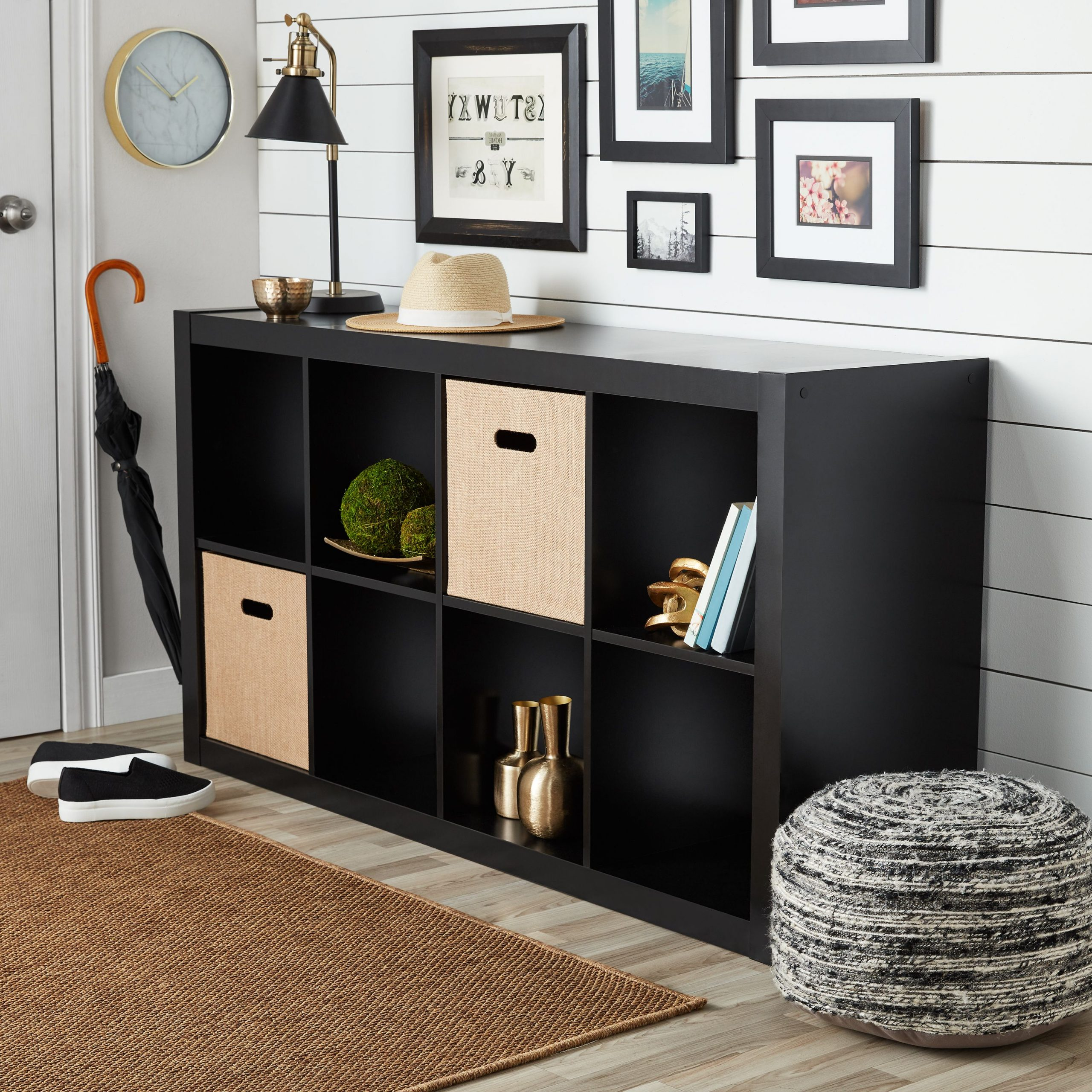 Better Homes & Gardens 8 Cube Organizer, Solid Black Intended For Most Current Mainstays 4 Cube Tv Stands In Multiple Finishes (View 2 of 10)