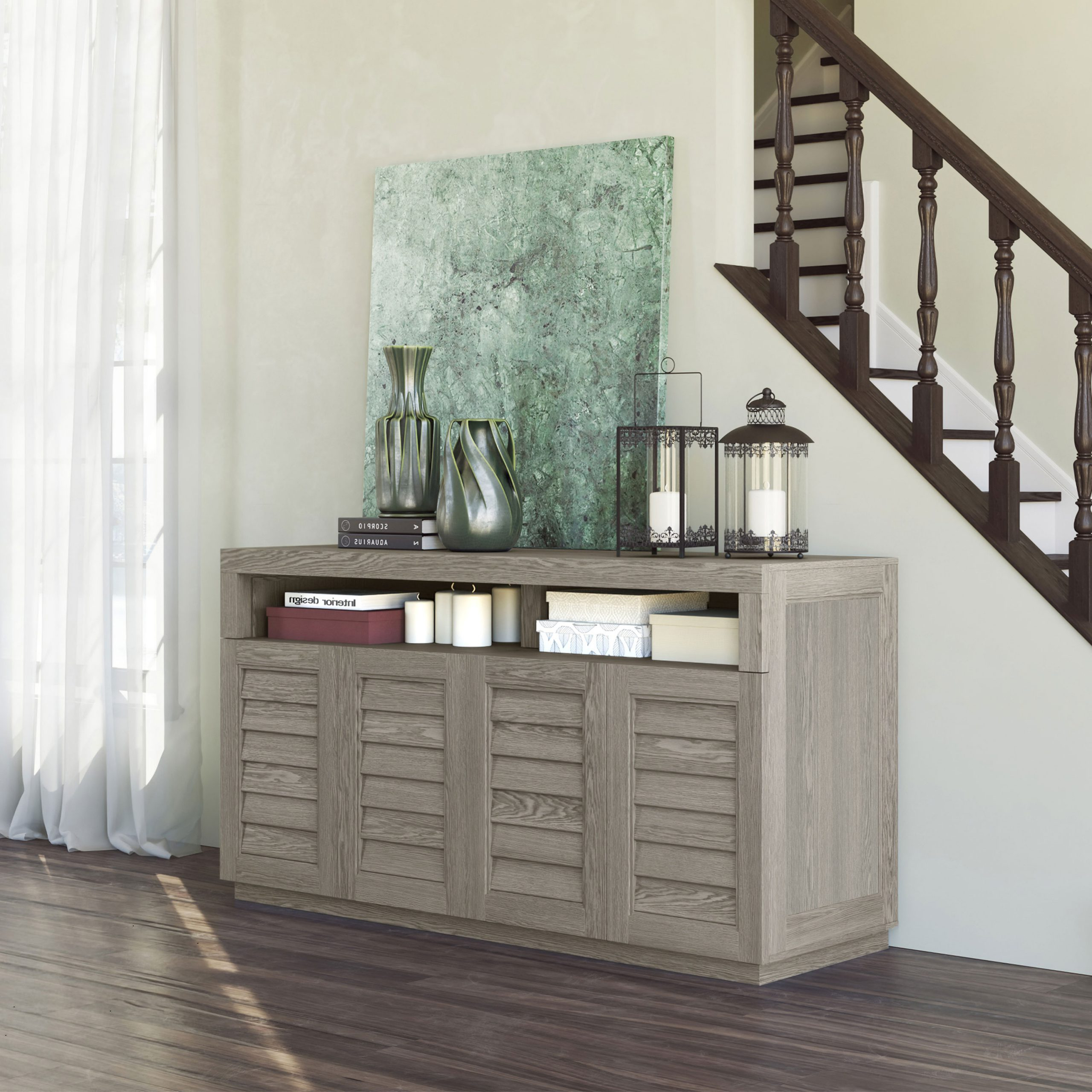 Better Homes & Gardens Herringbone Tv Stands With Multiple Finishes Inside 2017 Whalen (View 3 of 10)