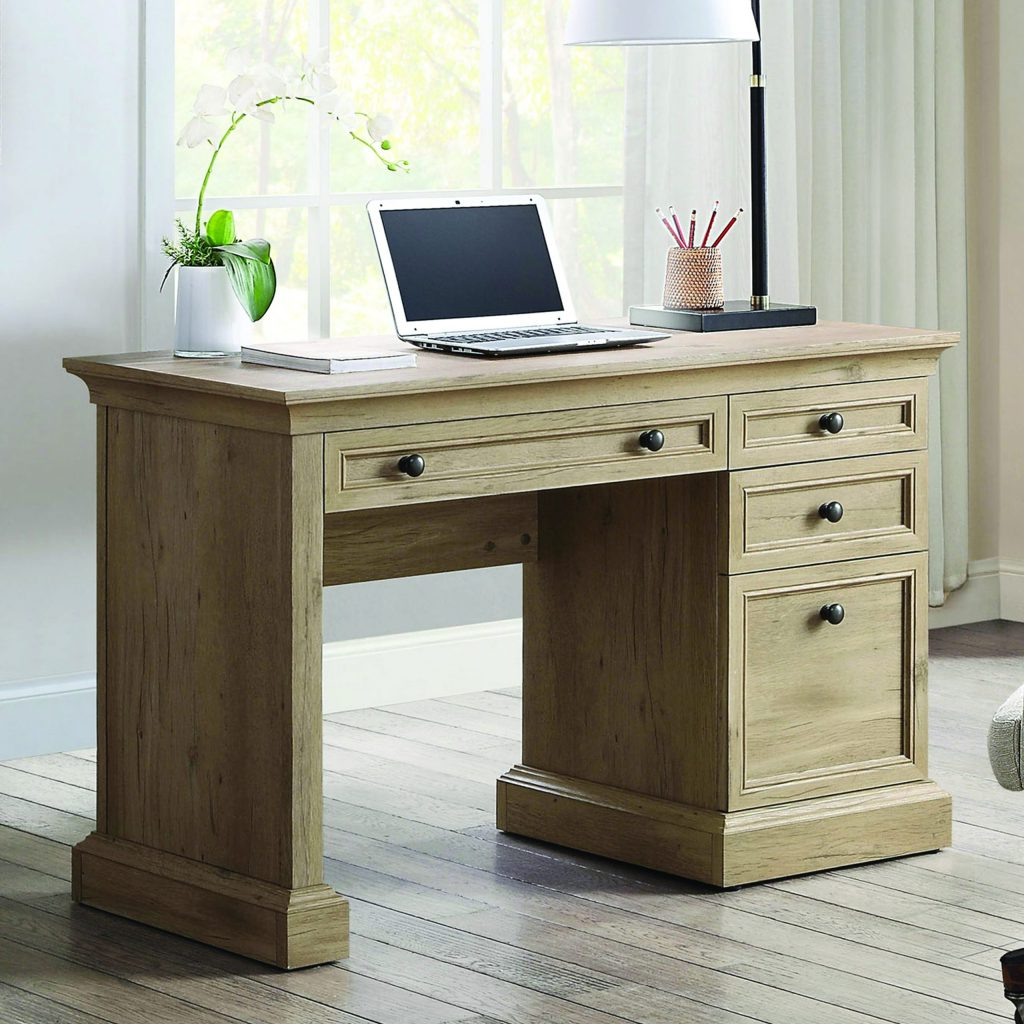 Better Homes & Gardens Herringbone Tv Stands With Multiple Finishes Intended For Preferred Canton Executive Writing Desk – Whalen (View 9 of 10)