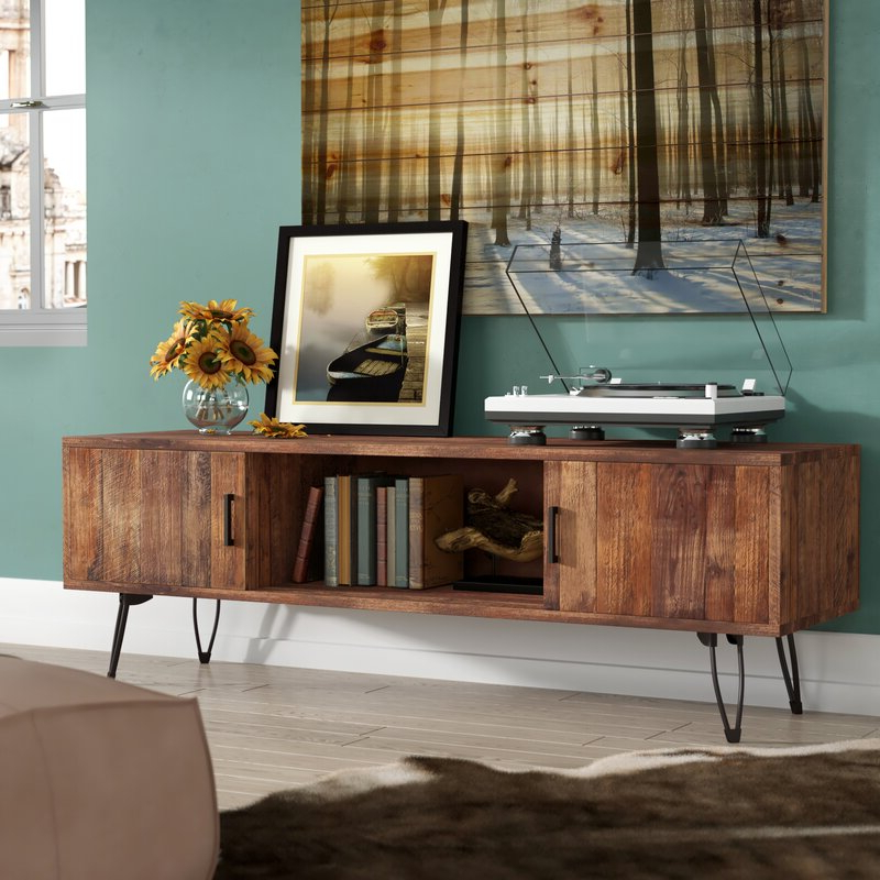 """Betton Tv Stands For Tvs Up To 65"""" Intended For Popular Allmodern Quijada Solid Wood Tv Stand For Tvs Up To  (View 22 of 25)"""