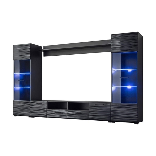 """Boston 01 Electric Fireplace Modern 79"""" Tv Stands In Most Current Modica Modern Entertainment Center Tv Stand Wall Unit With (View 2 of 10)"""