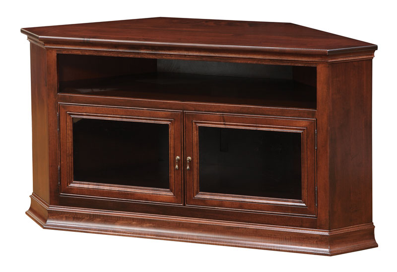 Breckenridge #40 Corner Tv Stand – Ohio Hardwood Inside Fashionable Hex Corner Tv Stands (View 15 of 25)