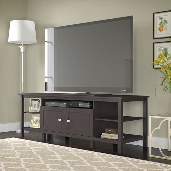 """Broadview Tv Stand For Tv's Up To 75 Inches In Espresso Within Most Current Chrissy Tv Stands For Tvs Up To 75"""" (View 6 of 25)"""