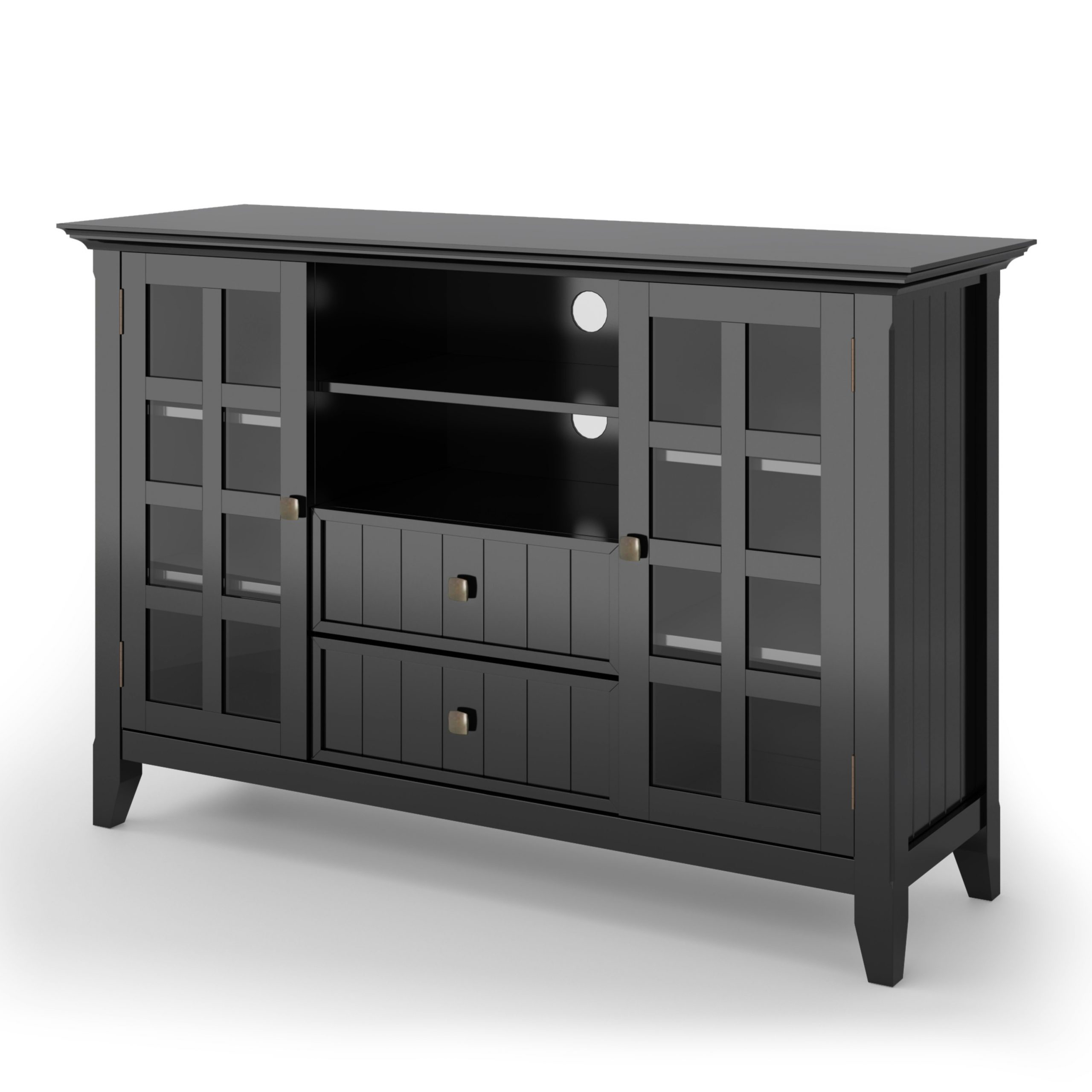 Bromley Black Wide Tv Stands For Latest Brooklyn + Max Brunswick Solid Wood 53 Inch Wide Rustic Tv (View 10 of 10)