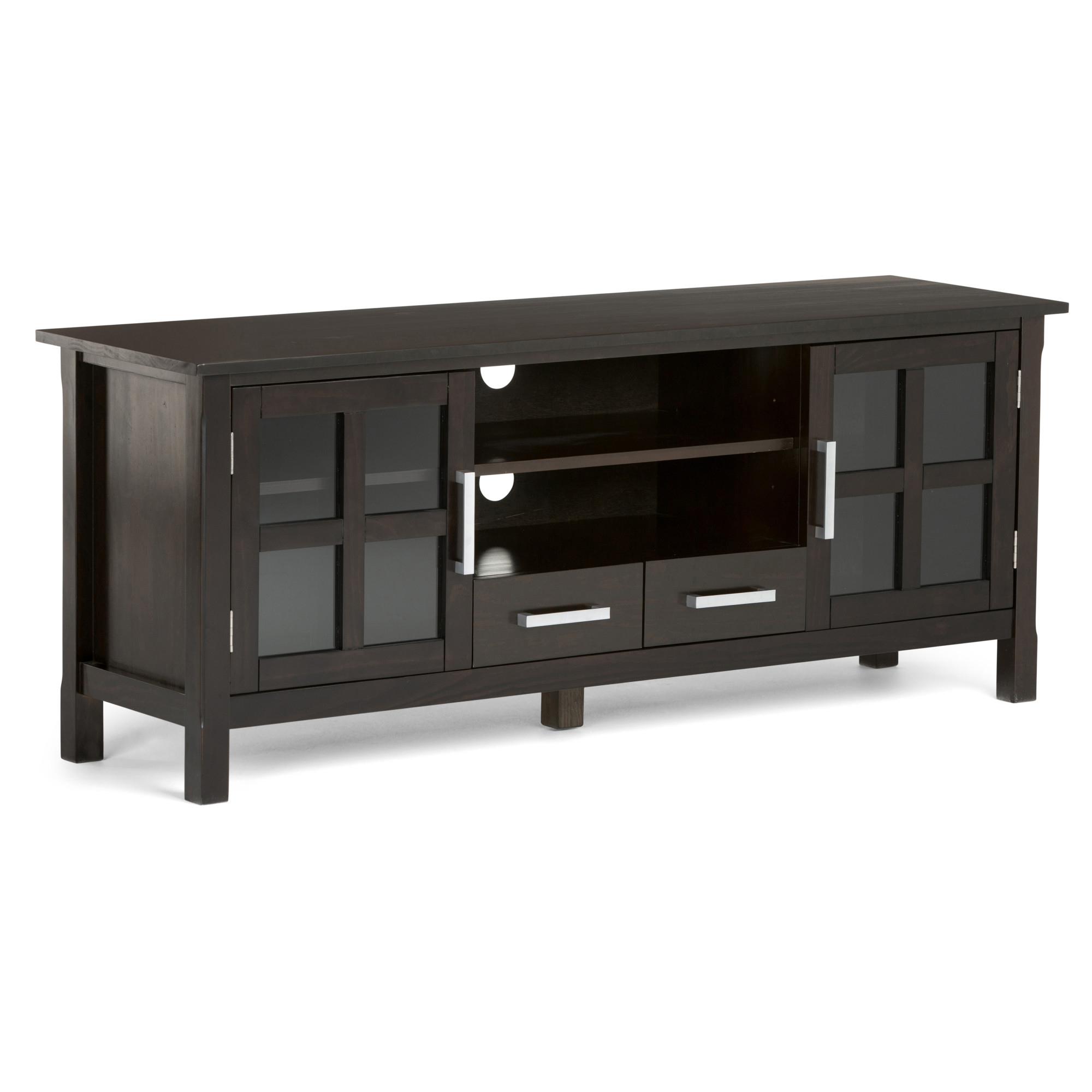 Bromley Extra Wide Oak Tv Stands Throughout Well Known Brooklyn + Max Providence Solid Wood 60 Inch Wide (View 11 of 25)