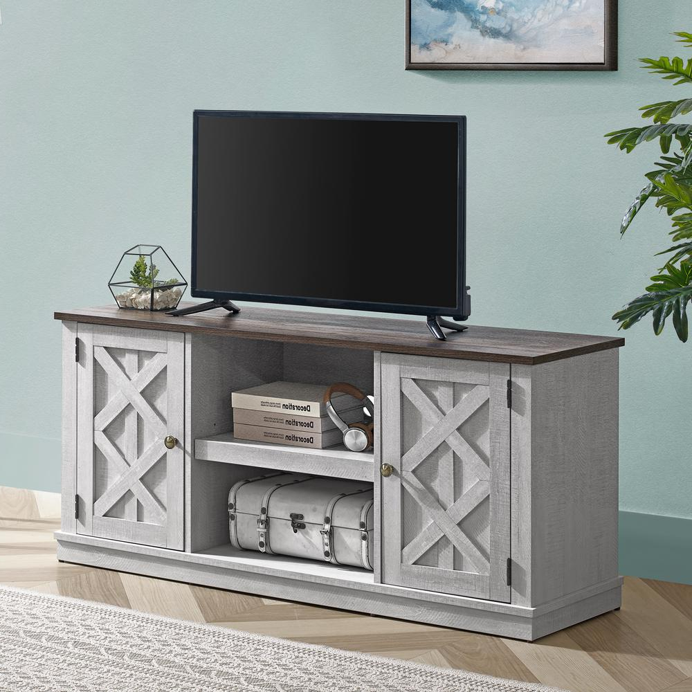 Bromley White Wide Tv Stands With Well Known Unbranded 54 In (View 5 of 10)