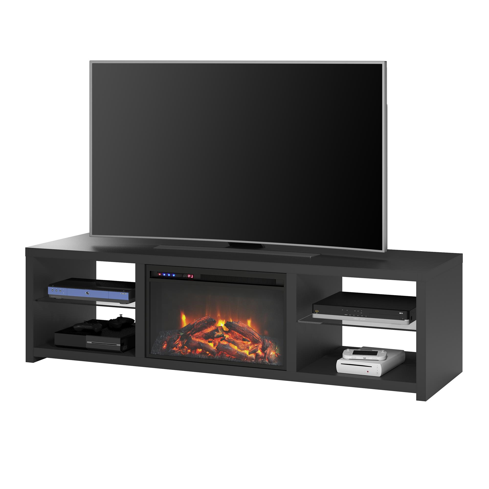 """Broward Tv Stands For Tvs Up To 70"""" Regarding Best And Newest Ameriwood Home Donovan Fireplace Tv Stand For Tvs Up To  (View 24 of 25)"""