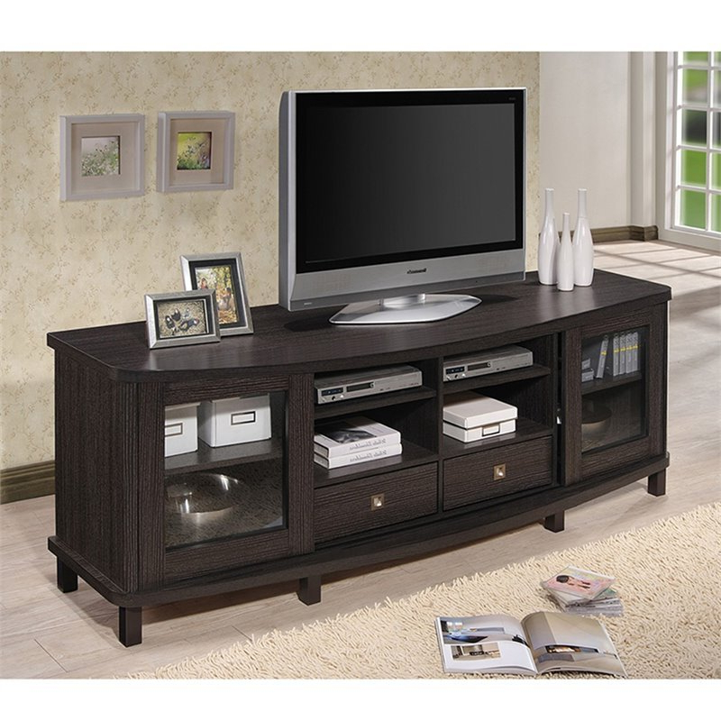 """Broward Tv Stands For Tvs Up To 70"""" Throughout Well Liked Baxton Studio Walda 70"""" Tv Stand In Dark Brown (View 11 of 25)"""