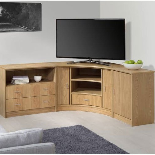 Brown Wooden Corner Tv Stand, For Home, Rs 25000 /unit Within 2017 Priya Corner Tv Stands (View 24 of 25)