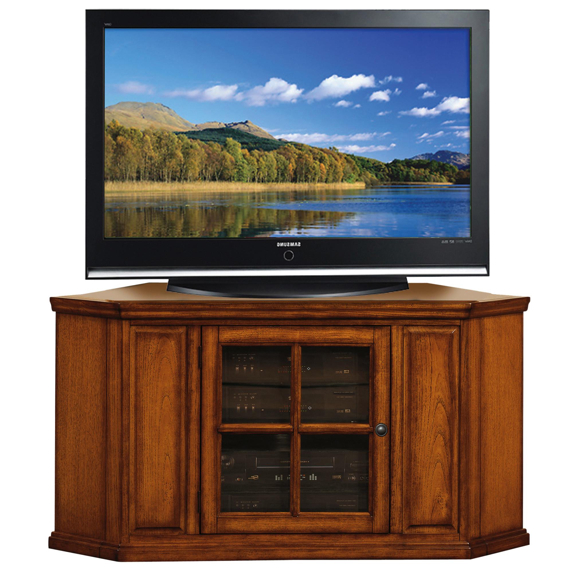 "Burnished Oak Corner Tv Stand For 50"" Tv's #88285 Regarding Newest Sidmouth Oak Corner Tv Stands (View 7 of 10)"