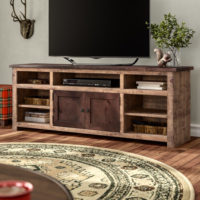 """Bustillos Tv Stands For Tvs Up To 85"""" In Preferred Union Rustic Woodsburgh Tv Stand For Tvs Up To  (View 24 of 25)"""