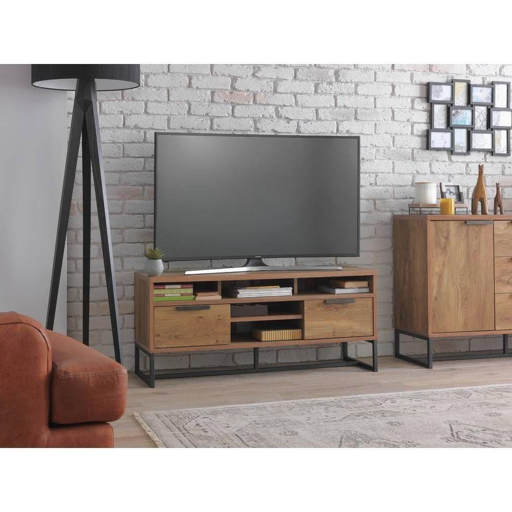 Buy Argos Home Nomad Tv Unit – Oak Effect (View 4 of 10)