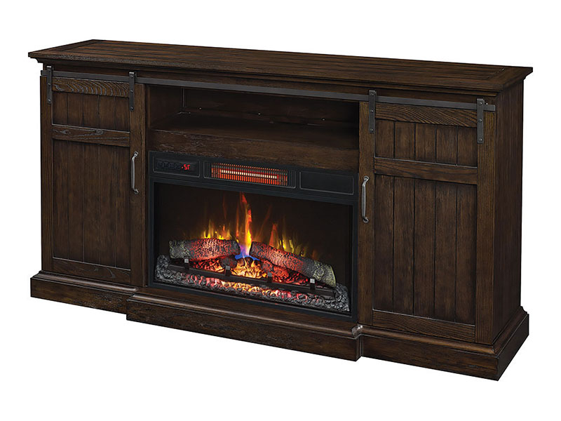 Cabaret Electric Fireplace Entertainment Center Within Best And Newest Twin Star Home Terryville Barn Door Tv Stands (View 2 of 10)