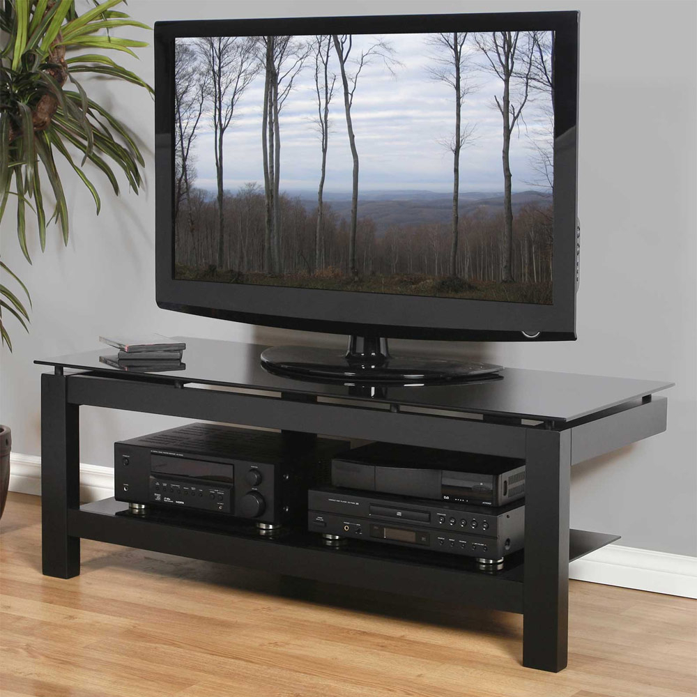 """Caleah Tv Stands For Tvs Up To 50"""" For Most Current Low Profile 50 Inch Tv Stand – Black In Tv Stands (View 5 of 25)"""
