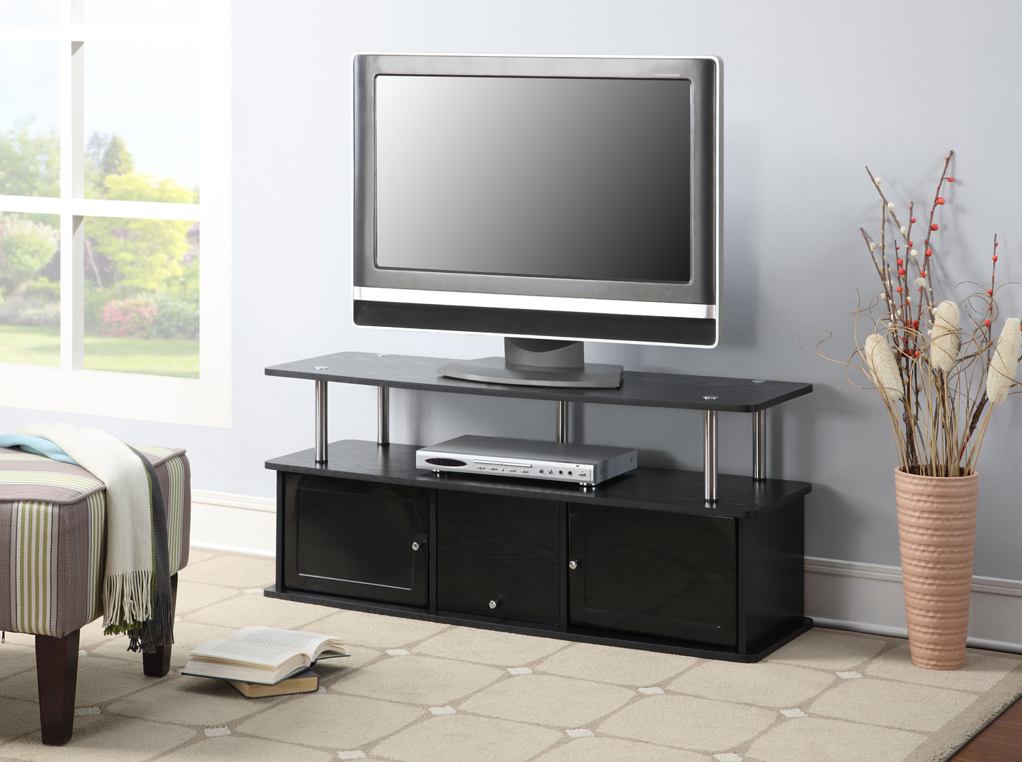 """Caleah Tv Stands For Tvs Up To 50"""" Regarding Fashionable Convenience Concepts Designs2go Cherry Tv Stand With  (View 2 of 25)"""
