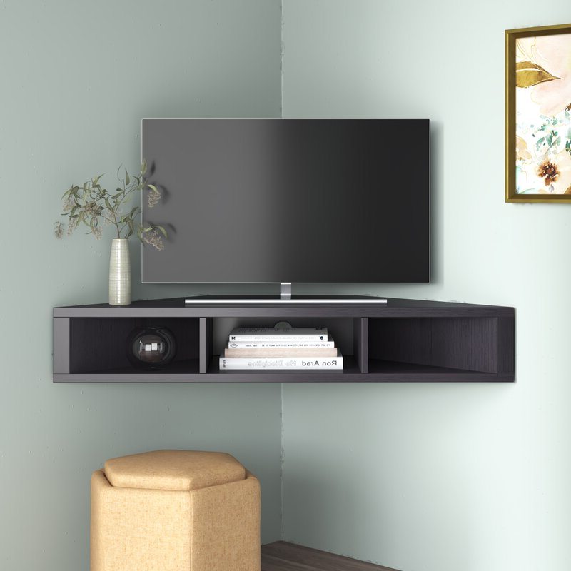 """Caleah Tv Stands For Tvs Up To 50"""" With Fashionable Ebern Designs French Floating Corner Tv Stand For Tvs Up (View 8 of 25)"""