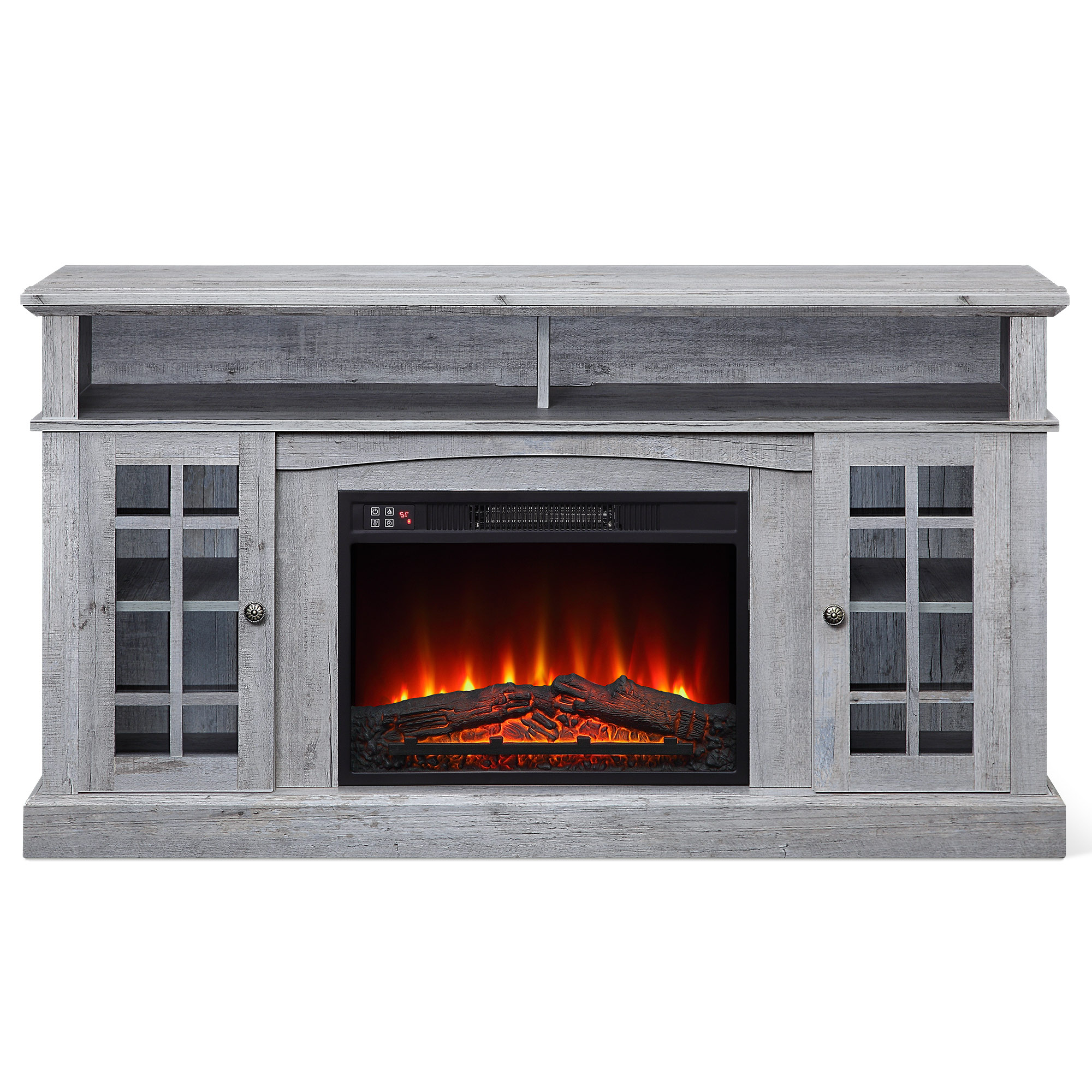 """Caleah Tv Stands For Tvs Up To 65"""" Intended For Current Belleze Fireplace Tv Stand With Remote Control Console (View 24 of 25)"""