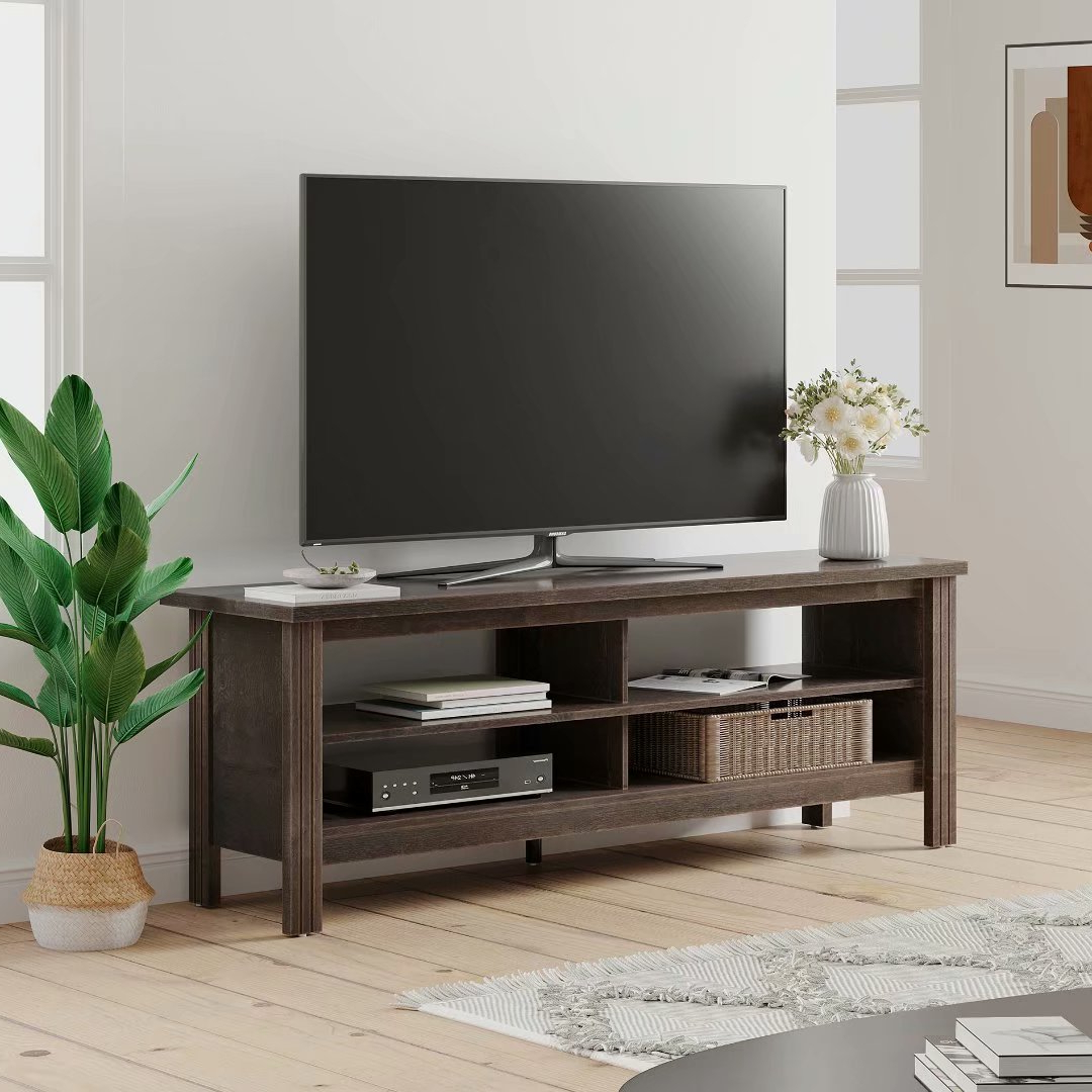 """Caleah Tv Stands For Tvs Up To 65"""" Throughout Most Up To Date Farmhouse Tv Stand Fo Tvs Up To 65 Inch Tv Console Table (View 4 of 25)"""