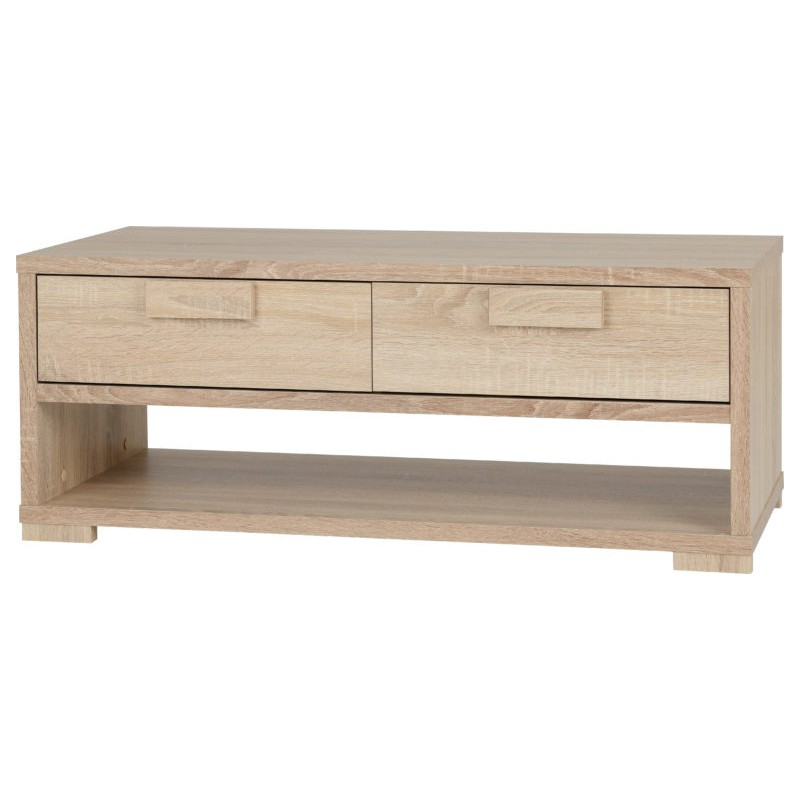 Cambourne 2 Drawer Coffee Table Sonoma Oak Effect Veneer Throughout Most Recently Released Cambourne Tv Stands (View 1 of 10)