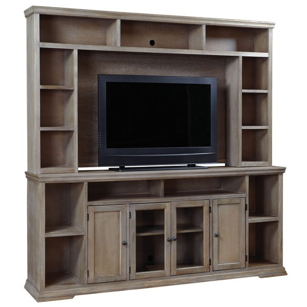 Canyon Oak Tv Stands With Regard To Famous Art Van Oak Canyon 84 Inch Console With Hutch –  (View 9 of 10)