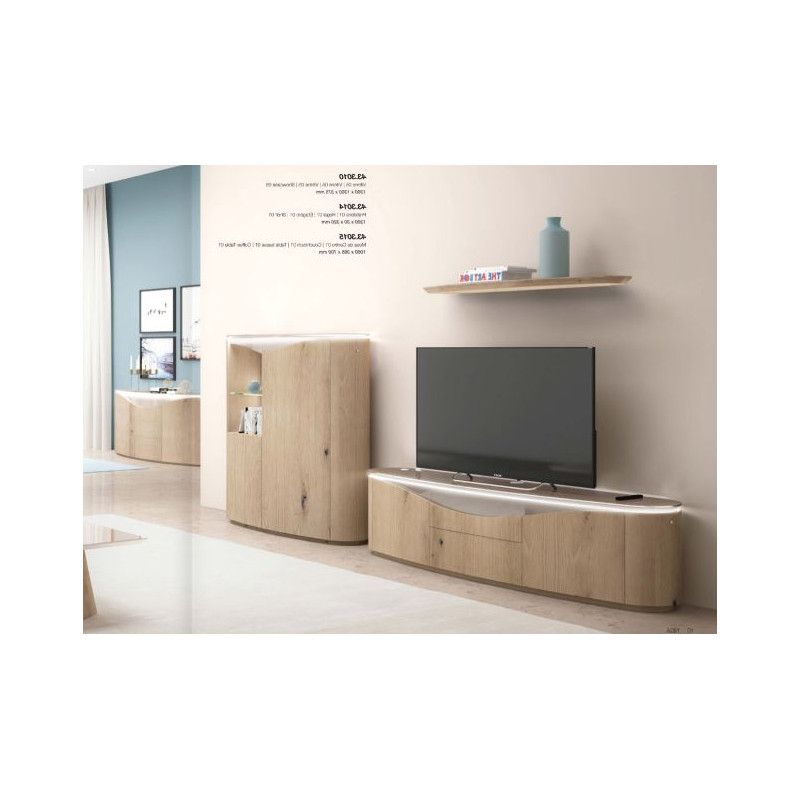 Casablanca Tv Stands Pertaining To Widely Used Nisa – Luxury Bespoke Tv Unit With Optional Lighting – Tv (View 8 of 10)