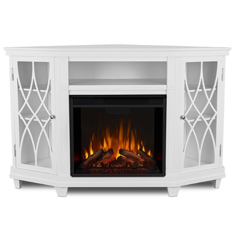 """Casey May Tv Stands For Tvs Up To 70"""" With 2017 Real Flame Lynette Corner Fireplace Tv Stand In White (View 18 of 25)"""