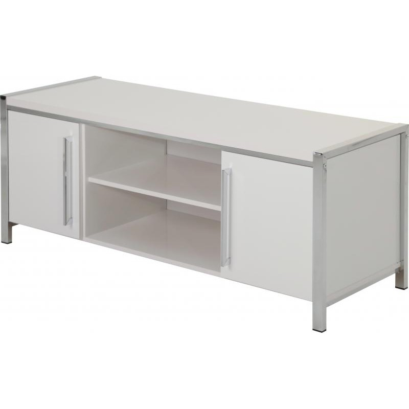 Charisma 2 Door Tv Unit In White Gloss/chrome Brixton Beds Inside 2018 Charisma Tv Stands (View 6 of 10)